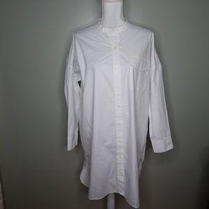 everlane women white shirtdress SZ 10